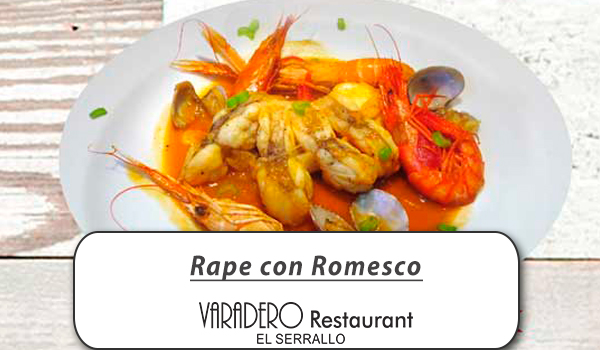 Rape con romesco